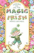 Mary Engelbreit-Magic Irish St Patrick'S Leprechaun-Greeting Card Green Env-New