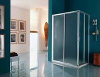 box cabina doccia angolare 4 ante cristallo America Up cm 64-70x82-88