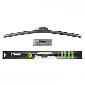 """PIAA 97040 Black Si-Tech Silicone 16"""" Single All Season Windshield Wiper Blade"""
