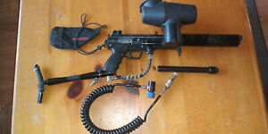 Tippmann A5 Paintball marker with remote line and stock egrip flatline barrel