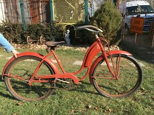Vtg Girls  1930s All American Bicycle Skip Tooth Sprocket, Gas Tank, Garden Art