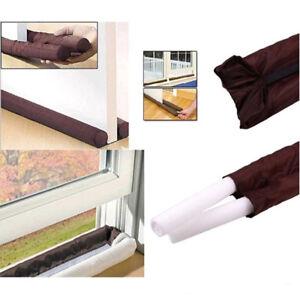 Twin Door Draft Dodger Guard Stopper Energy Saving Protector Doorstop Home !!