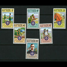 ST KITTS NEVIS 1978 Scouts. SG 407-412. Mint Never Hinged. (AB857)