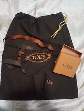 TOD'S  kit scatola empty box busta dustbag nastrini ribbons pezzolina di pulizia