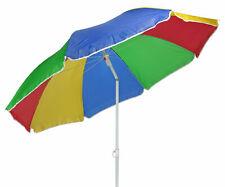 Sonnenschirm 180 cm bunt - mit Tasche - Strandschirm Garten Schirm Balkonschirm