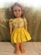 Vintage CHATTY CATHY Blonde Doll w/ Beautiful Yellow Dress - Talks