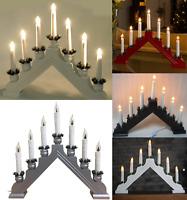 Christmas Wooden Plastic Candle Bridge 7 LED Bulb Window Table Decoration Xmas