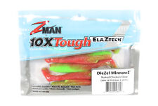 Zman Soft Lure Diezel MinnowZ 4 Inch 5 per pack Nuked Chicken Glow (3618)