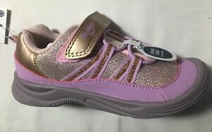 NEW ~ Osh Kosh B'gosh Toddler Girls Lilac & Gold Sparkle Eris Bump Toe Sneakers
