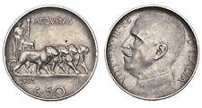 ITALIA Vittorio Emanuele III 50 Centesimi 1921 Leoni - Contorno rigato