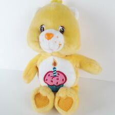 "Care Bears Birthday Bear Plush 9"" Yellow Birthday Cake Collectors Edition 2003"