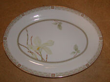 "Royal Doulton England China 13"" Oval Serving Platter White Nile TC 1122"