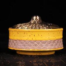 Buddhist Buddha Lotus Censer Incense Holder Burner Family Hall Alter Handmade