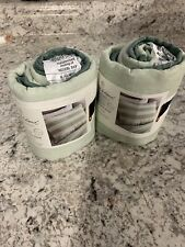 "New ListingSet of 2 - Hearth&Hand with Magnolia Pillow Shams 20""x26"" Striped White-Green"