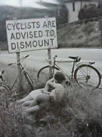 Vintage Cyclists Dismount Photo 463 Oddleys Strange & Bizarre