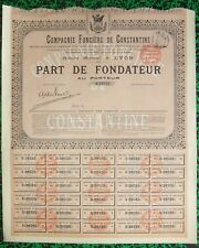 Algérie Epoque Coloniale & Lyon - Déco Cie Immobilière à Constantine  12/02/1901
