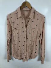CLOCKHOUSE Damen Bluse, Größe 34, nude, augen, schick, dünn, bequem, fein