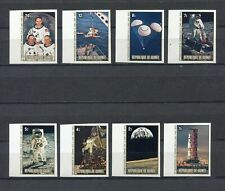 s12270) GUINEA MNH** Nuovi** 1980, Moonlanding anniversary 8v IMPERFORATED space