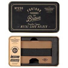 Gentlemans Hardware Metal Card Holder BNIB Designer Gifts RFID Blocking