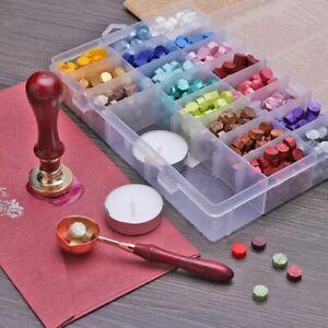 100x Vintage Octagonal Sealing Wax Beads Ancient Wax DIY Seal Stamp Tablet Pill