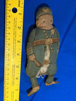 Antique 1892 Palmer Cox Brownie Police Man Cloth Doll Rare Toy 88 VTG