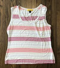 St John Green Scoop Neck Sparkle Tank Top L Sale Price Clothing, Shoes & Accessories