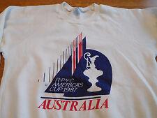 Vintage America's Cup 1987 Rpyc Australia Sailing Sweatshirt Shirt Medium Small