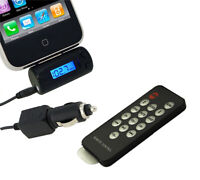 LCD FM Transmitter With Car Charger Remote for iPhone 4 3GS 3G 2G iPod Touch