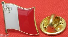 Malta Maltese Flag Lapel Hat Tie Pin Badge Brooch Republic Repubblika ta' Malta
