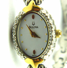 Ladies Bulova Wristwatch with crystal in the bezel