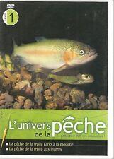 DVD ZONE 2--L'UNIVERS DE LA PECHE VOL 1--TRUITE FARIO A LA MOUCHE & AUX LEURRES