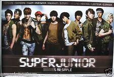 "SUPER JUNIOR ""MR. SIMPLE"" KOREAN PROMO POSTER - Korea K-Pop Music, Boy Band"