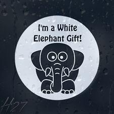 I'm A White Elephant Gift Funny Car Decal Vinyl Sticker