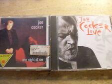 Joe Cocker [2 CD Alben] Live + One Night of SIn