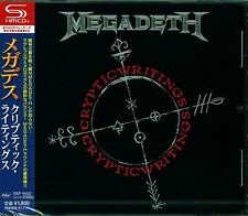 MEGADETH CRYPTIC WRITINGS JAPAN 2013 RMST SHM HIGH FIDELITY CD +4 - NEW/SEALED!