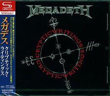 MEGADETH CRYPTIC WRITINGS JAPAN 2013 RMST SHM HIGH FIDELITY CD +4 - NEW/SEALED!