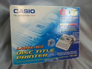 Casio CW-L300 Label Biz DVD CD Disc Title Printer USB Conn. New