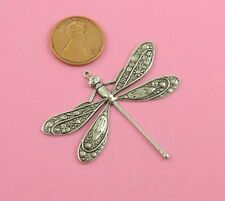 Beautiful Decorative Silver Plated Dragonfly Motif With Top Ring - 1 Pc(s)