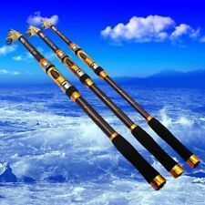 Telescopic Fishing Rod Spinning Fish Hand Tackle Sea Carbon Fiber Pole US Ship