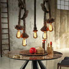 Lamp of Ceiling Pendant Retro Vintage Rope of Hemp Light Industrial Bar Decorate