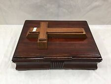 antique box with cross