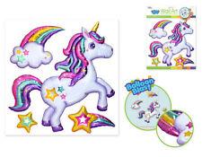 Balloon Blasts UNICORN rainbow star cloud wall stickers 4 big 3D pop-up decals