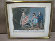 Antique Framed Hand Colored Prints Italian Set Of Six Depicting 1797 Opera