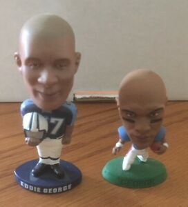 2 Eddie George Mini Bobbleheads & Stacker Doll Lot Tennessee Titans Ohio State