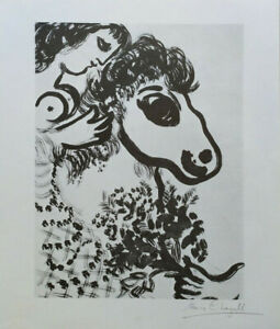 marc chagall / hand signed / litho / print / certificat of authenticity, COA