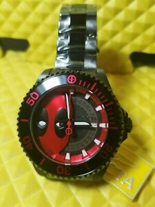"""Invicta 47mm Marvel Grand Diver """"Wade Wilson"""" DeadPool Automatic Lim. Ed. Watch"""