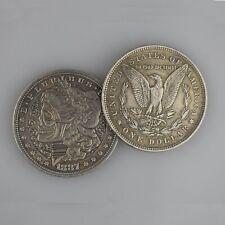 USA Morgan Nickel Skull Skeleton Silver Zombie Money Stamp Gift Collection