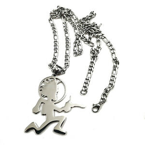 Psychopathics from Outerspace Charm hatchetman stainless steel pendant necklace