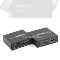 Full HD 1x2 Port HDMI Splitter Repeater Amplifier 3D 1080p Female Switch Box