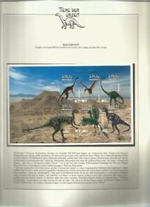 81610/ Dinosaurier Fauna Tiere ** MNH OHNE VORDRUCK MALEDIVEN
